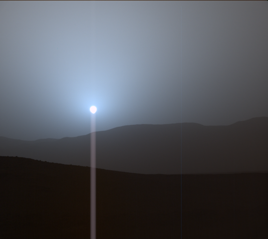 Curiosity sunset, sol 956