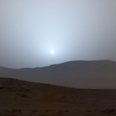 Curiosity sunset on sol 956