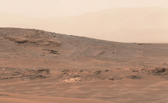 Curiosity's view, sol 956