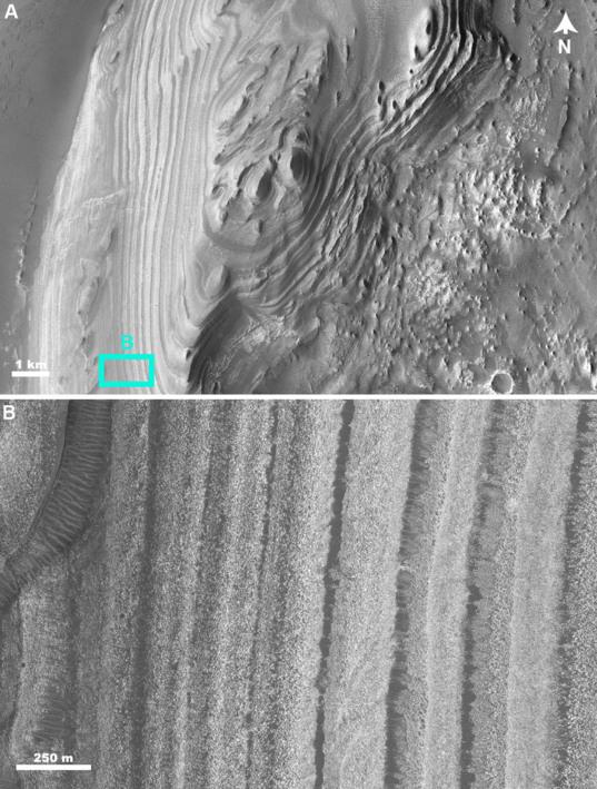 Layers in Juventae Chasma