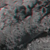 3D route map for Curiosity: Across the Bagnold dune field, sols 1153-1310