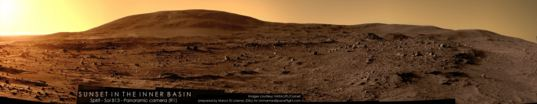 Sunset in Gusev Crater, sol 813