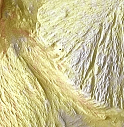Detail from a THEMIS image of Gale crater