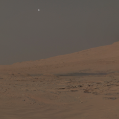 Moonset over Mount Sharp
