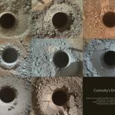 Thirteen Curiosity drill holes on Mars