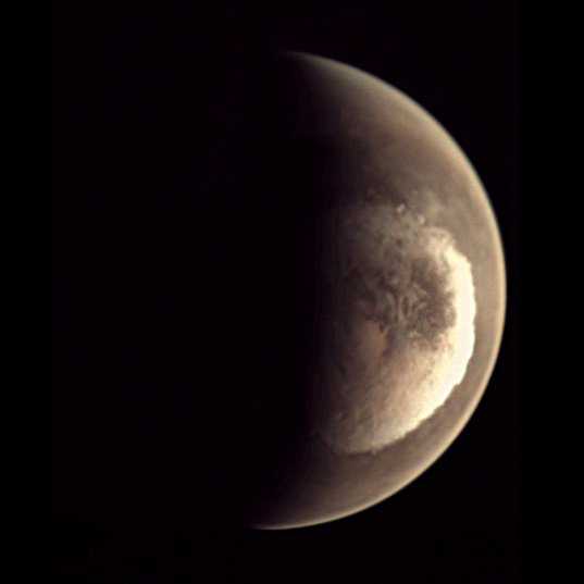 Spring at Mars' south pole