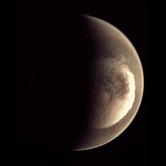 Spring at Mars' south pole