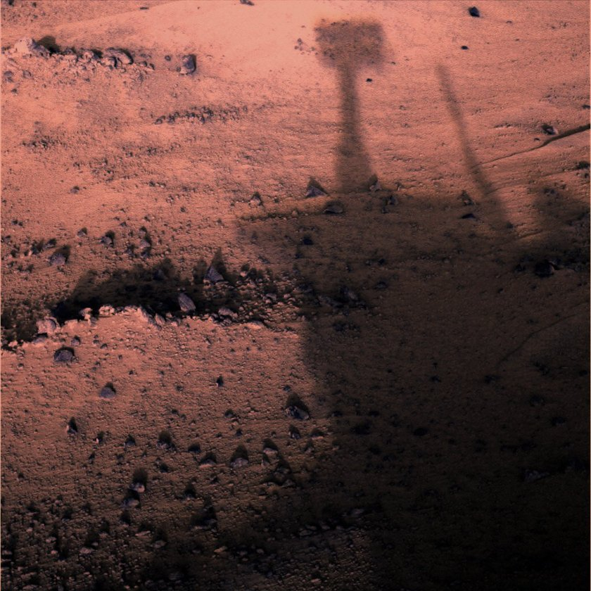 Sunrise and shadows at Gusev