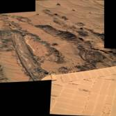 Spirit slips on the mud, sol 1042
