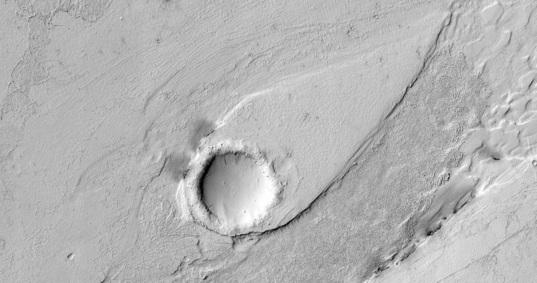 A streamlined form in Lethe Vallis