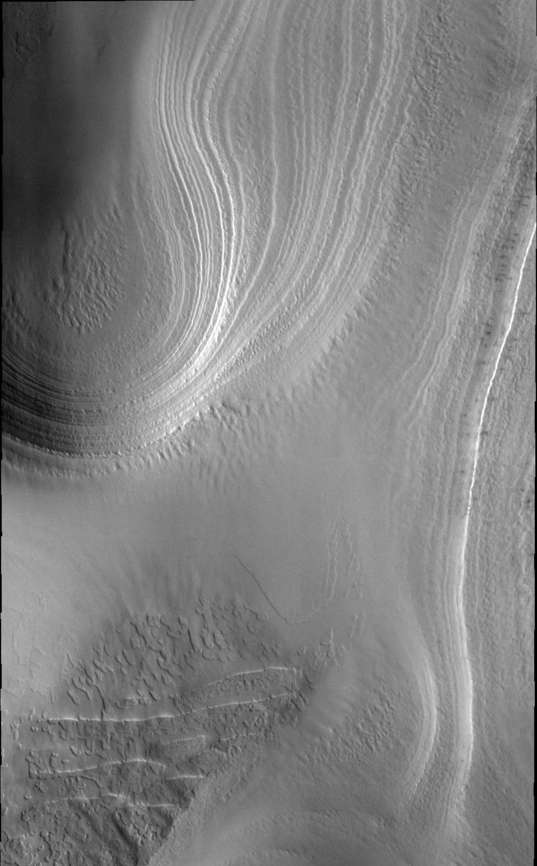 Layers in Mars' south polar cap