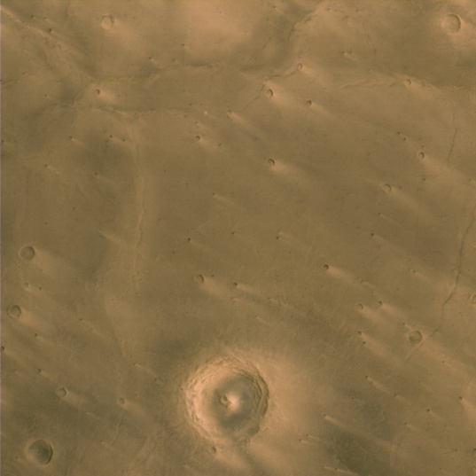 Windstreaks on Martian craters