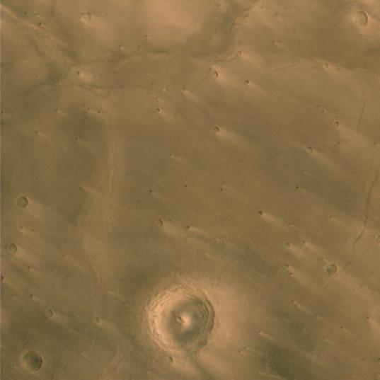Windstreaks on Martian craters