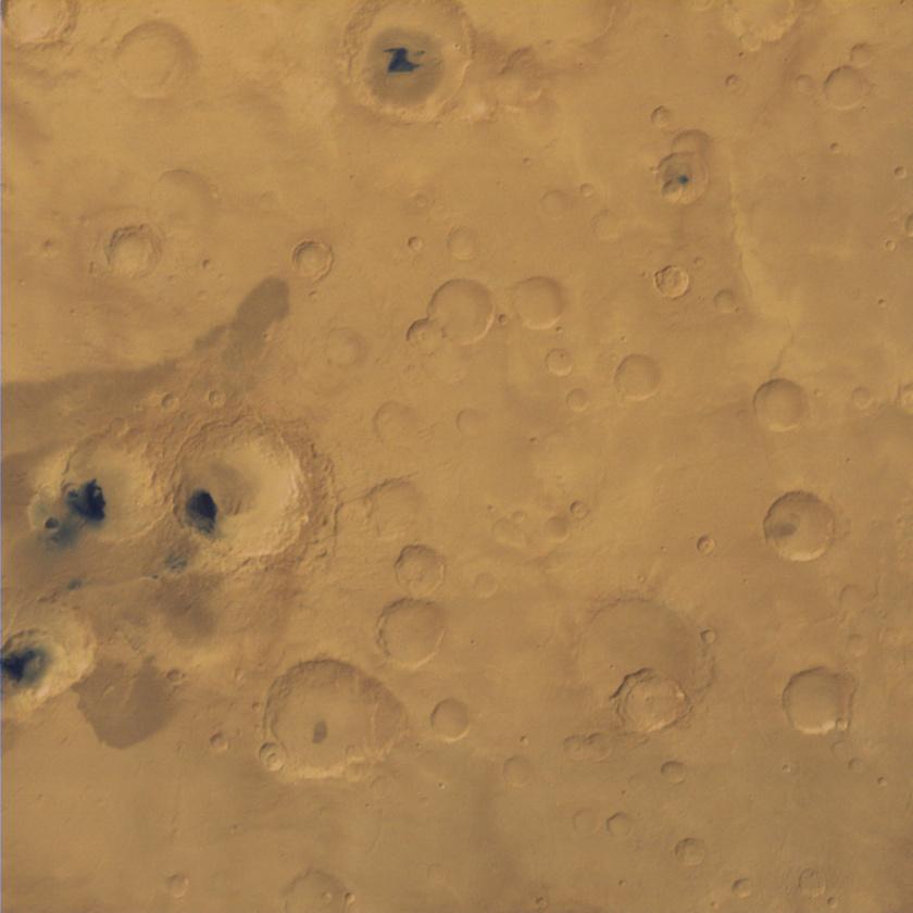 Craters at Hiddekel Cavus