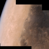Syrtis Major and the Martian limb from Mars Orbiter Mission
