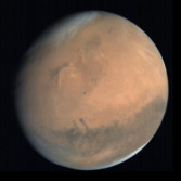 Global view of Mars from MOM: Elysium Planitia and Gale Crater