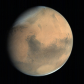 Global view of Mars from MOM: Syrtis Major and Hellas #1