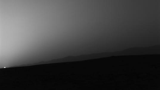 Sunset on Mars, Curiosity sol 312