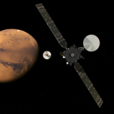 ExoMars TGO and Schiaparelli approach Mars
