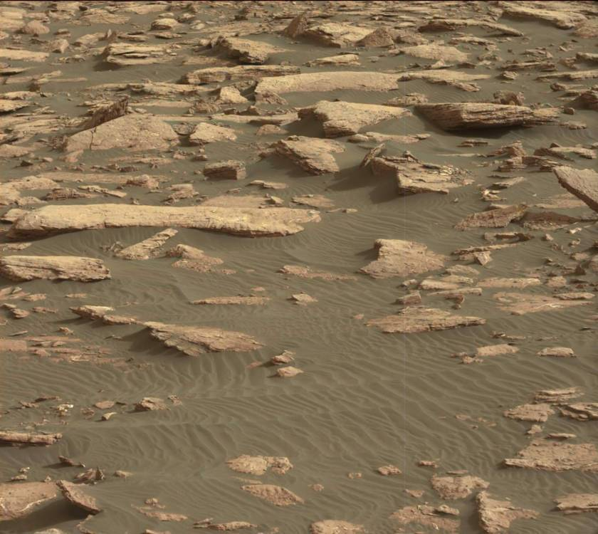 Gale Crater, Mars, from Curiosity rover, Nov. 8, 2016