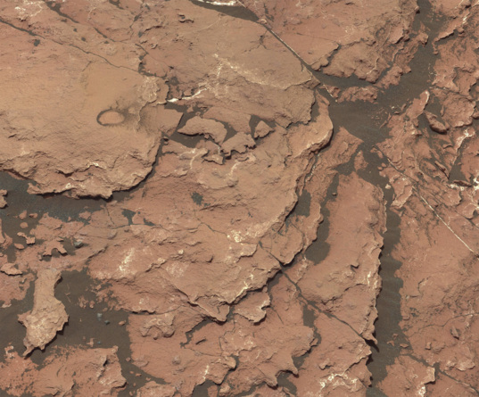 Murray formation outcrop, Curiosity sol 1512