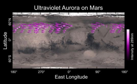 MAVEN captures aurora on Mars