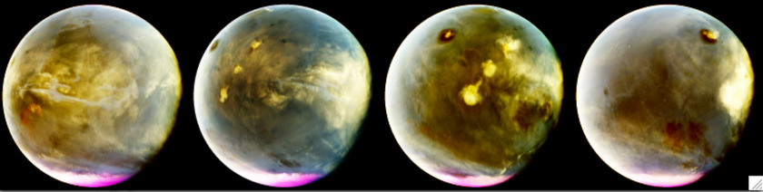 MAVEN view of clouds on Mars in UV