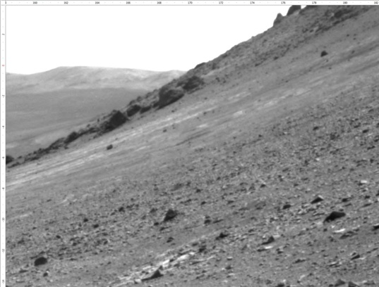 Navcam view looking southeast, sol 4588