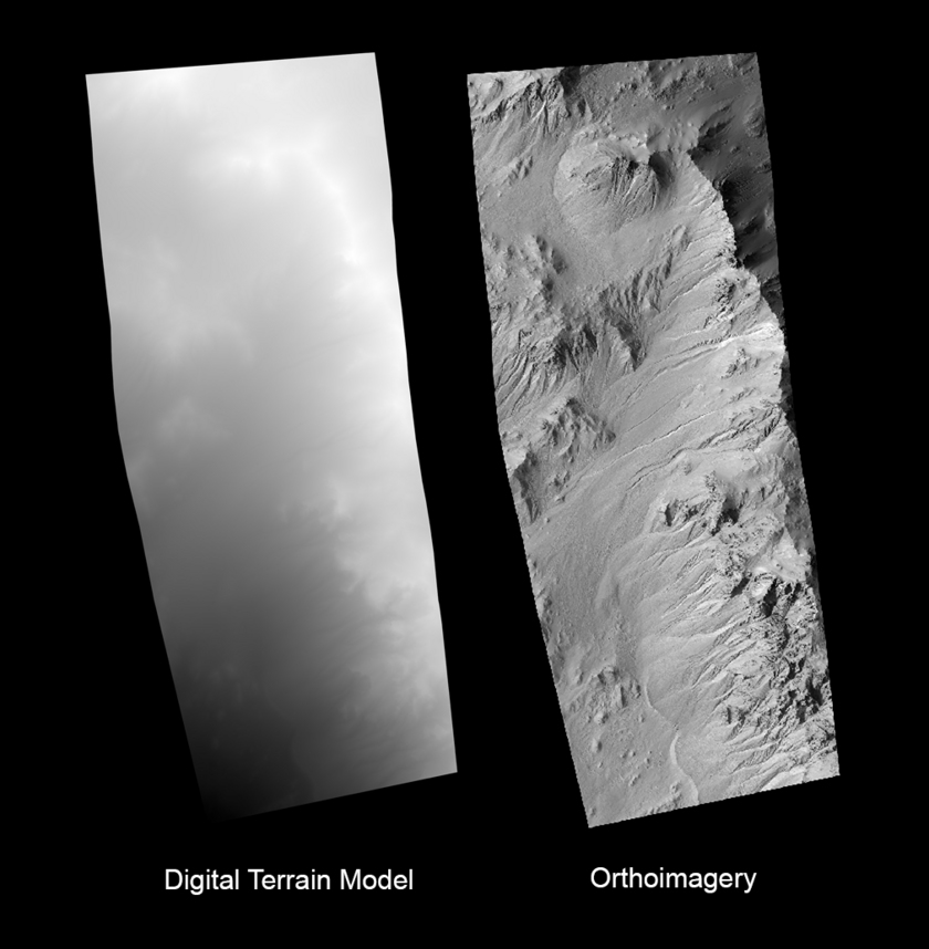 Sample Digital Terrain Model (DTM) and orthoimage