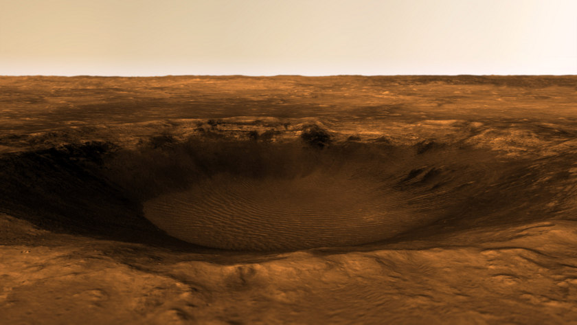 Crater near Mawrth Vallis