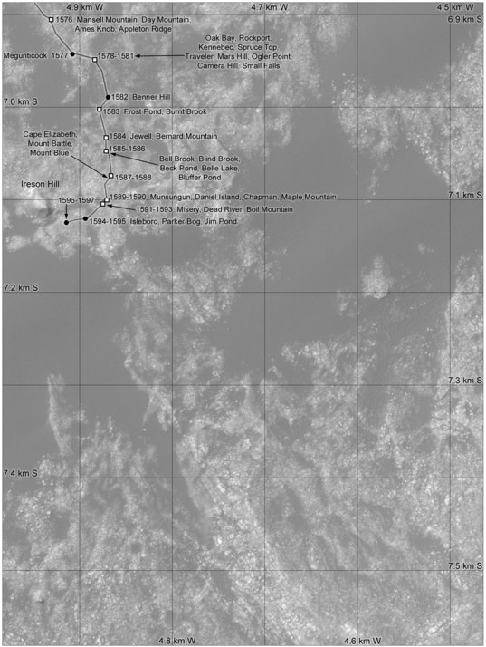 Phil Stooke's Curiosity route maps (updated to sol 1597)