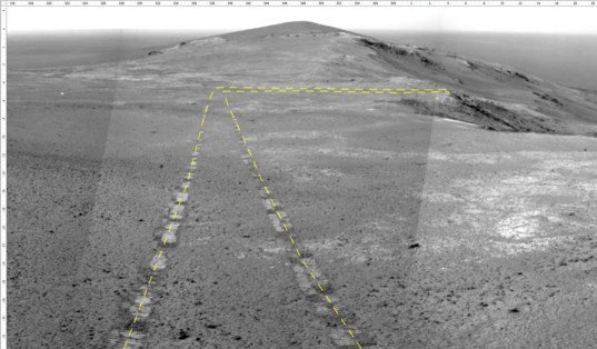 Opportunity's rear view