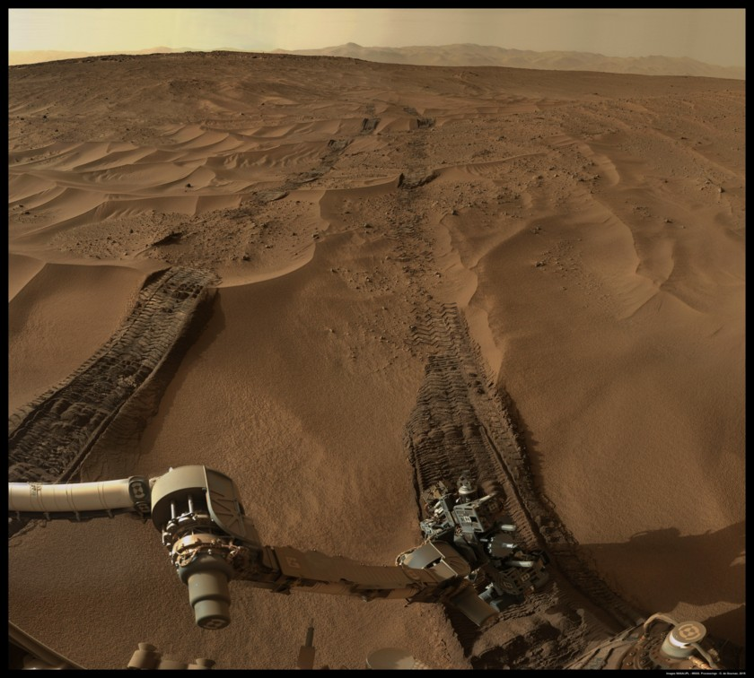 Curiosity in the sands near Sourdough, sol 673
