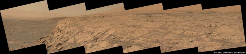 Ascending the slope of Vera Rubin Ridge (Curiosity sol 1812)