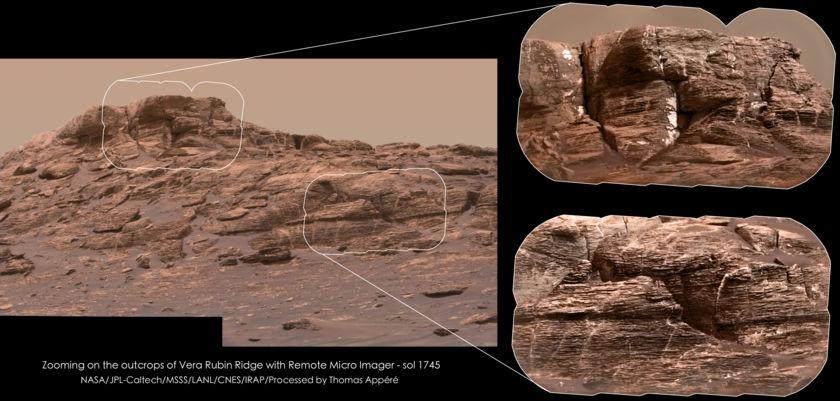 Mastcam-colorized ChemCam views of Vera Rubin Ridge, sol 1745