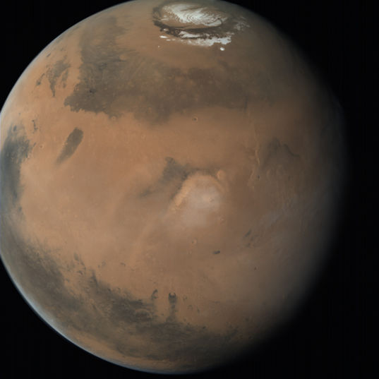Global view of Mars centered on Elysium Mons