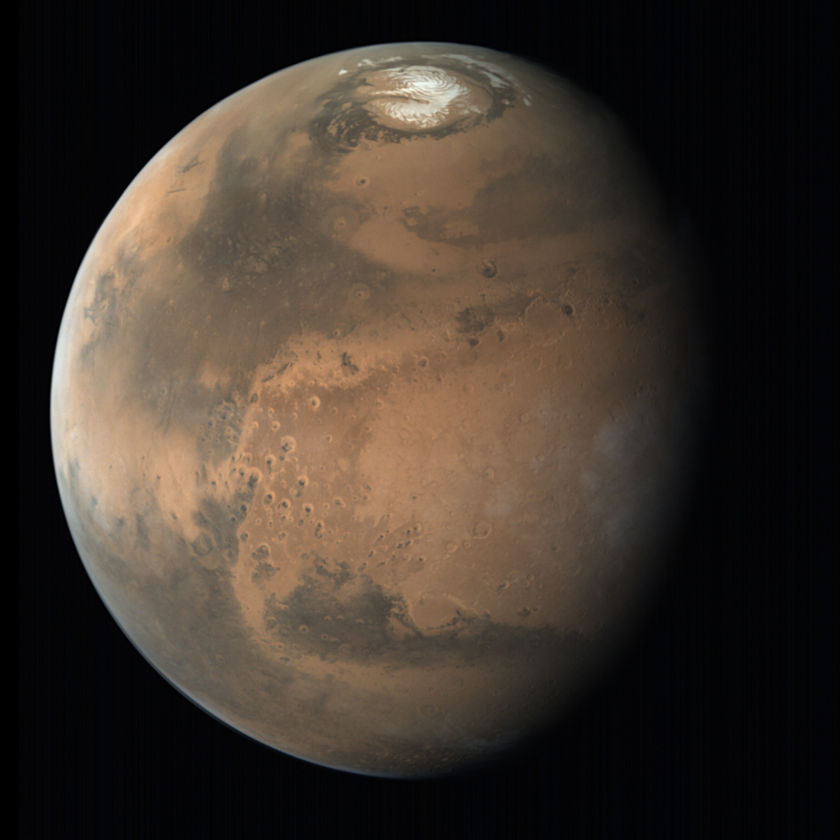 Northern summer global view of Mars from Mars Orbiter Mission