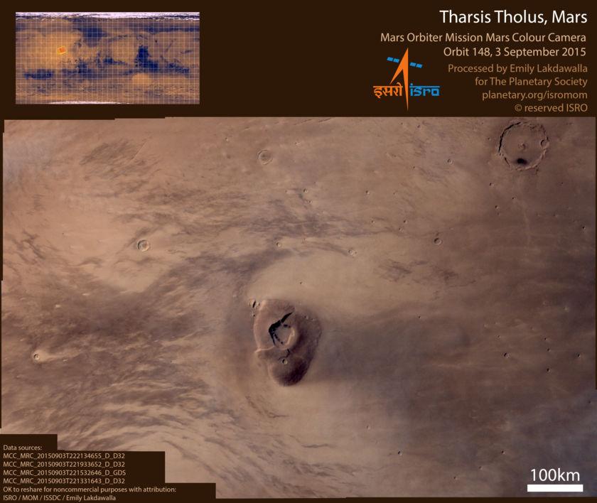 Tharsis Tholus, Mars