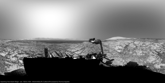 Curiosity on Vera Rubin Ridge