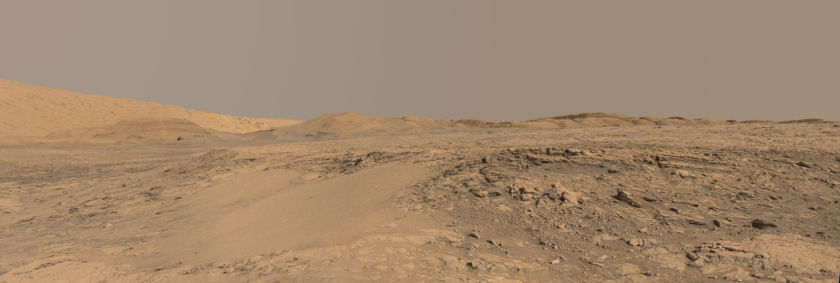 The foothills of Mount Sharp from Vera Rubin Ridge