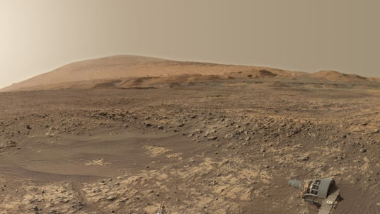 Mount Sharp from Vera Rubin Ridge