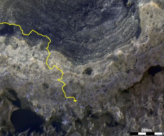Before & After: Vera Rubin Ridge HiRISE color and CRISM hematite band depth