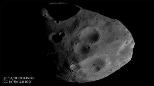 Phobos from Mars Express