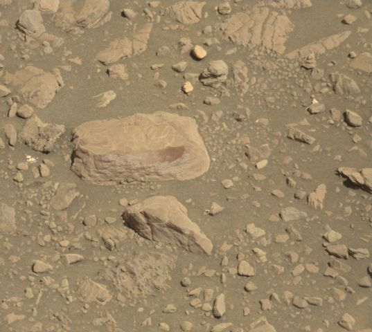 Curiosity sol 1951 post-drive AEGIS target