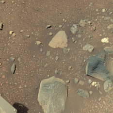 Arm workspace at Bressay, sol 2014