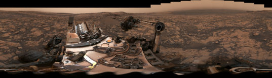 Curiosity deck panorama at Stoer