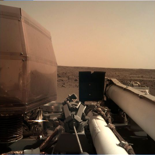 First image from InSight's Instrument Deployment Camera on Mars