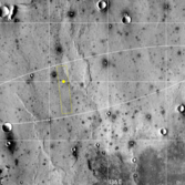 Location of the InSight landing site within its landing ellipse