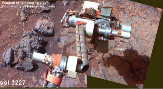 Opportunity Pancam of outcrop