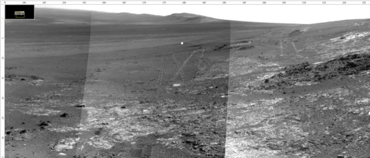 Opportunity sol 3262 Navcam mosaic